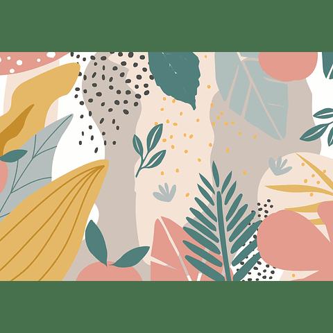 Individual de Papel Selva Pastel