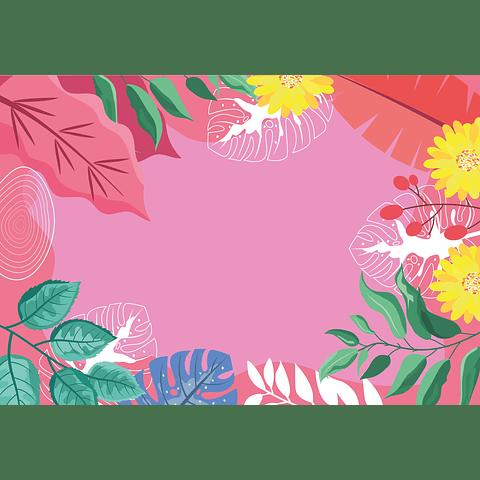 Individual de Papel Selva Rosa