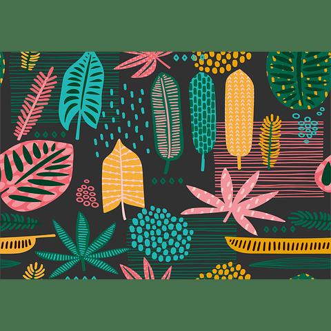 Individual de Papel Selva Colorida