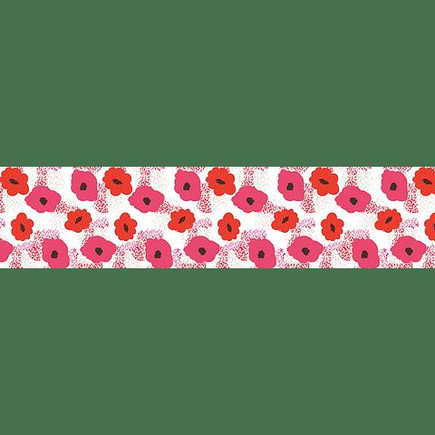 Camino de Mesa Flores Rojas