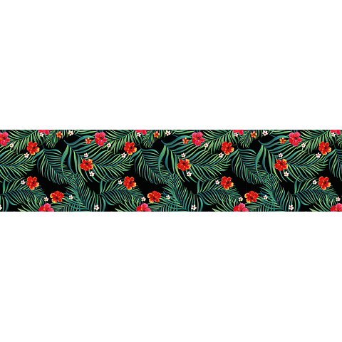 Camino de Mesa Azul Flores Rojas