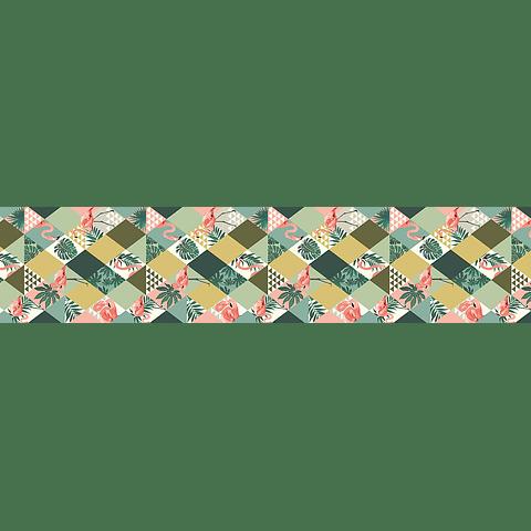 Camino de Mesa Geométrico y Flores