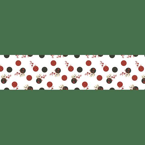 Camino de Mesa Pintas Rojo y negro
