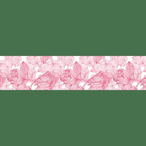 Camino de Mesa Rosa Sobre Blanco