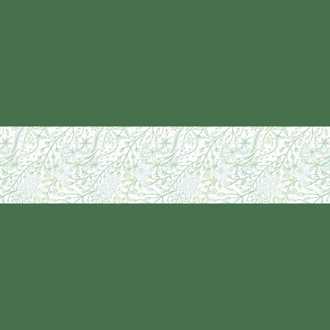Camino de Mesa Verde Sobre Blanco