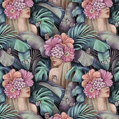 Cortina de Floral Botánico 1