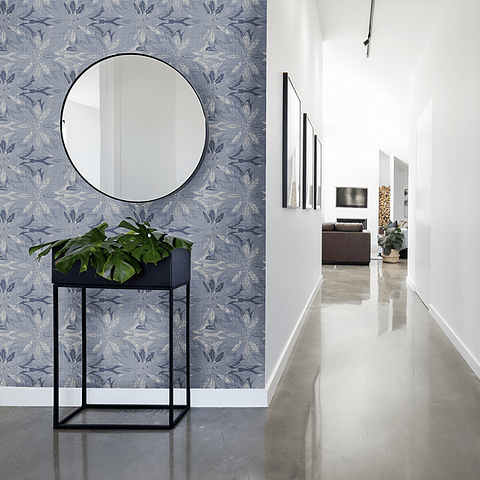 PAPEL MURAL BLUE AND WHITE