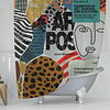 Cortina de Baño Pop Art