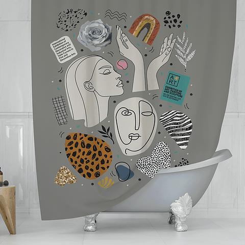 Cortina de Baño Arte Moderna
