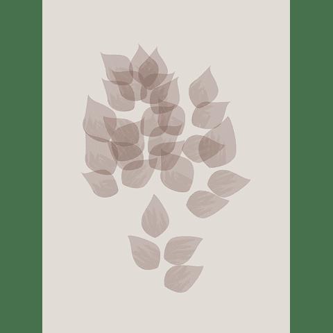 Cortina Baño Leaves