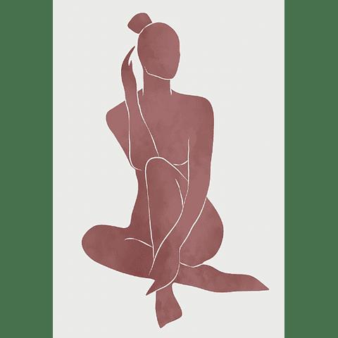 Cortina Baño Sombra Mujer