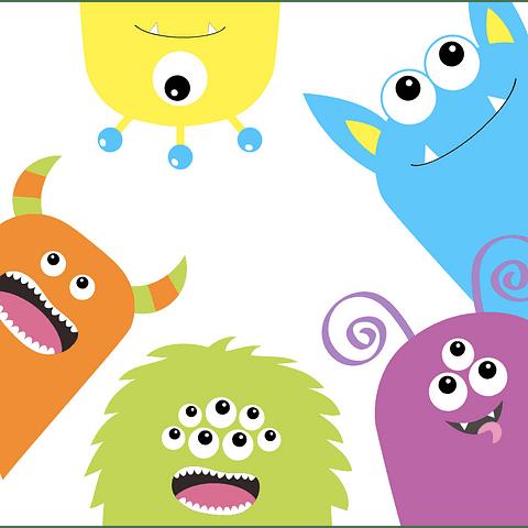 Cortina de Baño Happy monster
