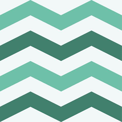 Chevron Clásico | Verde Azulado