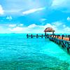 Fotomural Muelle y Mar turquesa