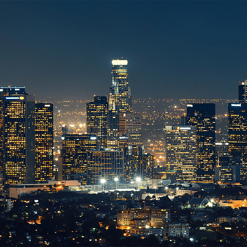 Fotomural Los Ángeles nocturno