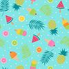 Transparencia Frutas y helado tropical