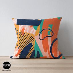 Funda Cojín Colores Abstractos