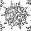 Individual para Colorear | Mandala 1