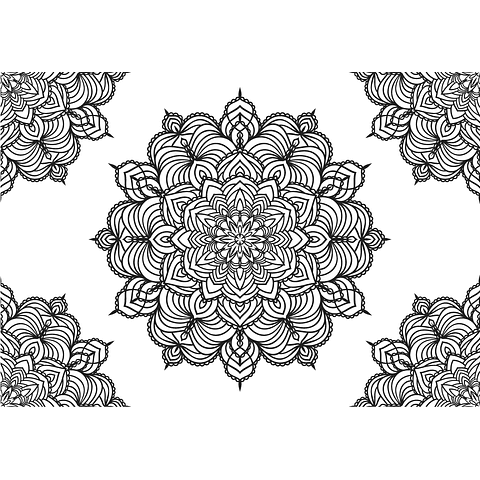 Individual para Colorear | Mandala 2