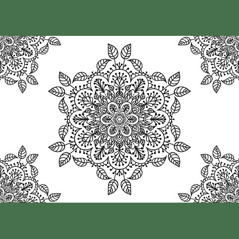 Individual para Colorear | Mandala 3