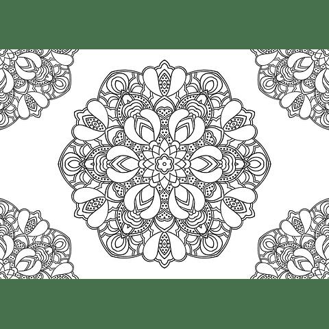 Individual para Colorear | Mandala 4