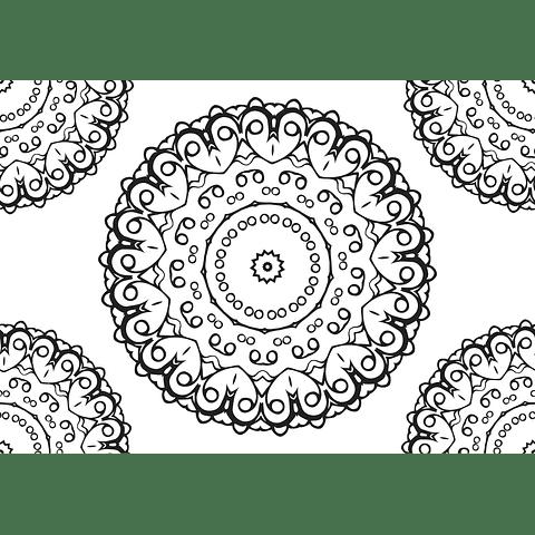 Individual para Colorear | Mandala 6