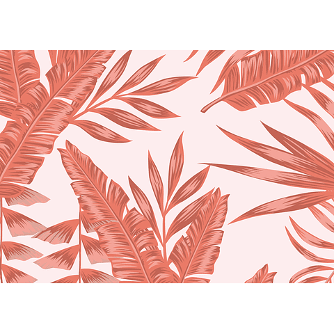 Hojas Tropicales Rosa