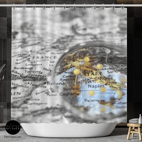 Cortina de Baño Mapa Italia
