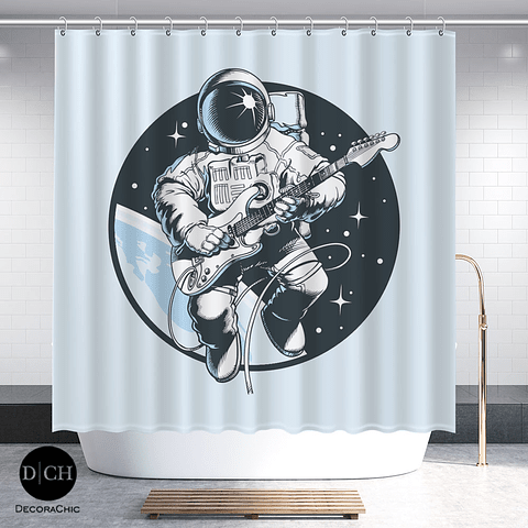 Cortina de Baño Astronauta Rockero