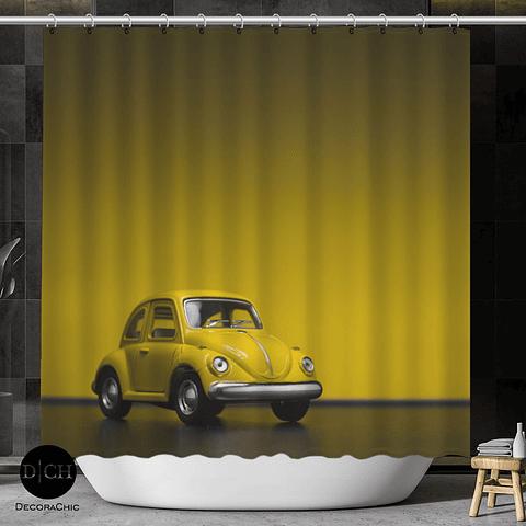 Cortina de Baño Escarabajo Amarillo