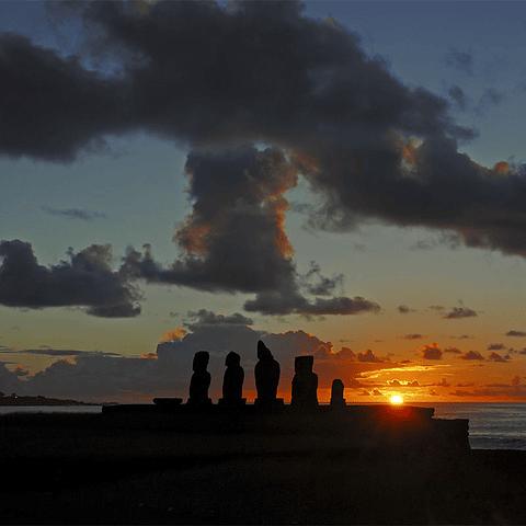 Fotomural Atardecer Rapa Niu