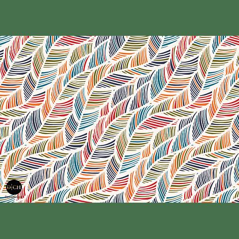 Individual Plumas Colores