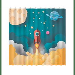Cortina de Baño Cohete