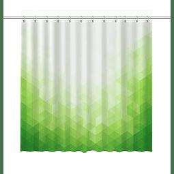 Cortina de Baño Degrade Verde