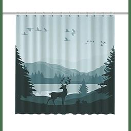 Cortina de Baño Ciervo en el Bosque