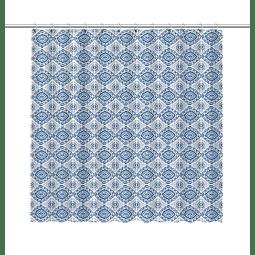 Cortina de Baño Ornamento Azul