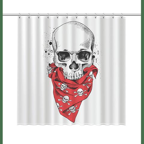 Cortina de Baño Bandana Skull