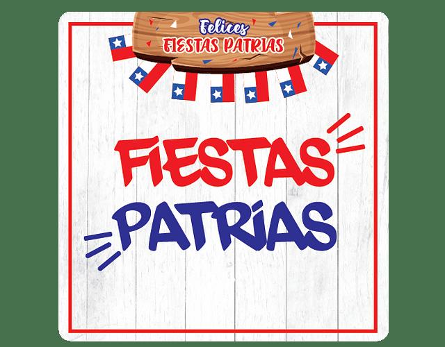 6 Posavasos Fiestas Patrias