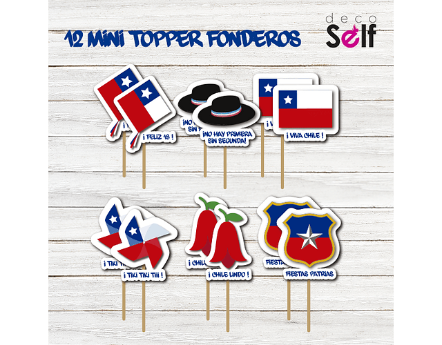 Mini Toppers Fiestas Patrias