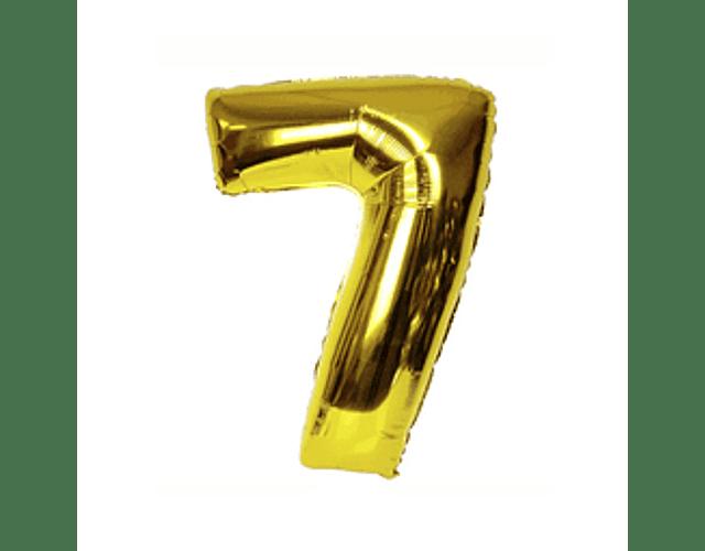 Número Inflable Dorado 101 cm.