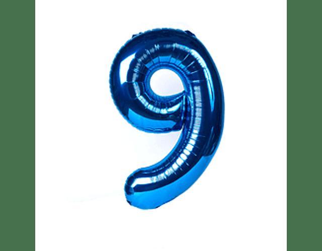 Número Inflable Azul 101 cm.