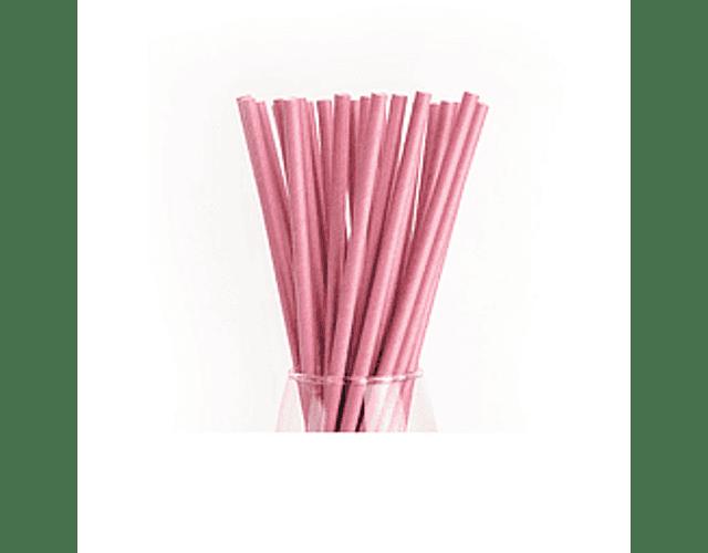 12 Bombillas de papel Rosado
