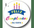 12 etiquetas adhesivas de cumpleaños DISEÑO 1