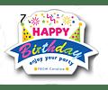 12 etiquetas adhesivas de cumpleaños DISEÑO 7