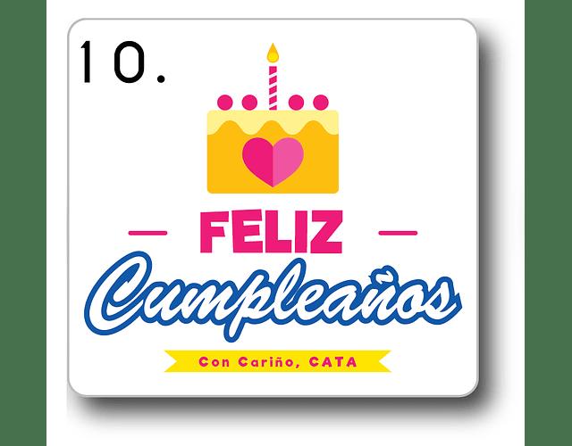 12 etiquetas adhesivas de cumpleaños DISEÑO 10
