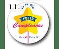 12 etiquetas adhesivas de cumpleaños DISEÑO 11
