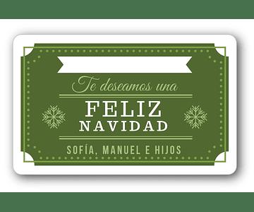 12 etiquetas adhesivas de navidad DISEÑO 3