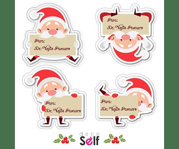 4 etiquetas adhesivas de navidad DISEÑO 4