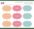 9 etiquetas adhesivas para cajones