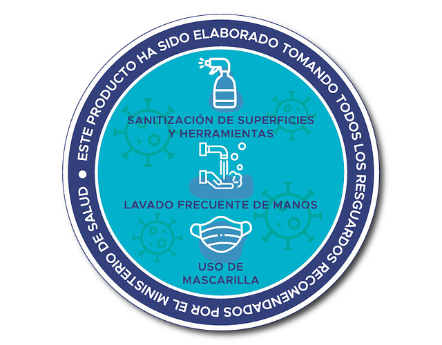 100 etiquetas adhesivas Retorno Seguro